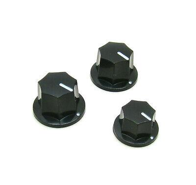 Black Chrome Tesi Premium Metal Dome Guitar Knob for Volume or Tone