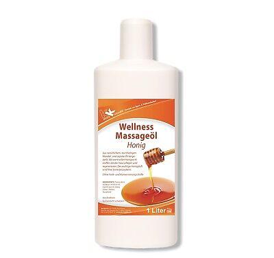 KK Wellness Massageöl Honig 1 Liter Wellness Aromaöl Massage Öl Lotion Therapie