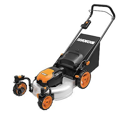 """WORX WG719 13 Amp 20"""" Electric Lawn Mower with Caster Wheels"""