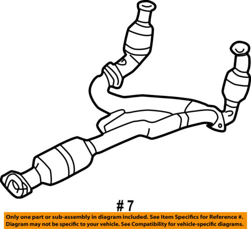 Jeep Chrysler Oem 02 03 Liberty 3 7l V6 Catalytic Converter