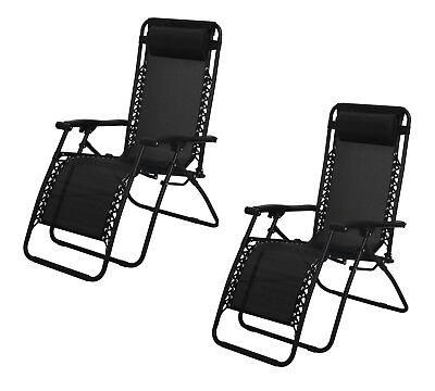 Havnyt Zero Gravity Reclining Chairs Garden Sun Loungers SET OF 2