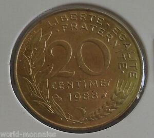 20 centimes marianne 1988 : SPL : pièce de monnaie française - France - Valeur faciale: 20 Centimes Qualité: SPL Période: 1901 - 1999 - France