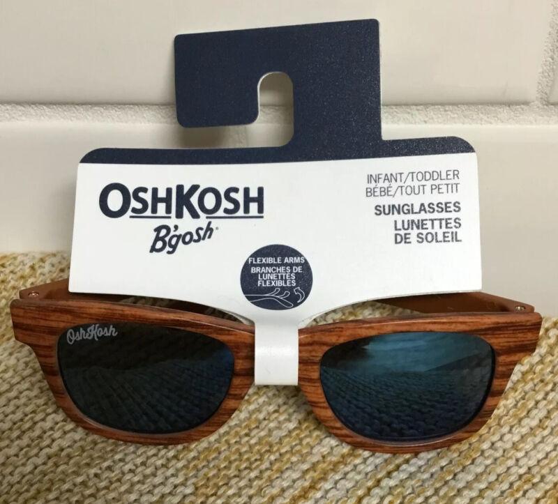 Boys Carter's Sunglasses 100% UVA-UVB 0-24m 0-2 year Wood grain Brown NEW