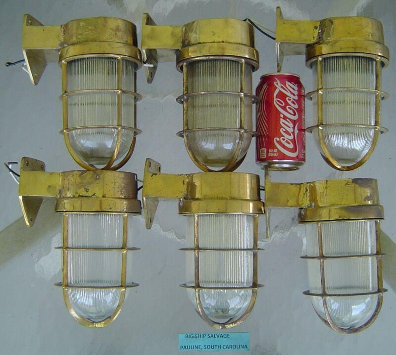 Nautical Passageway Lights - Antique - Set of 6