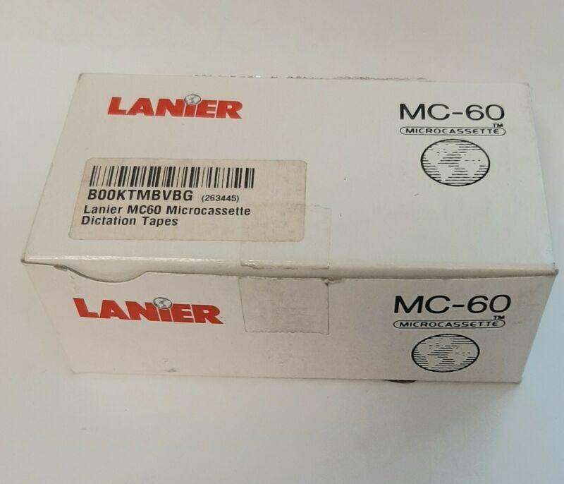 Lanier MC-60 Microcassette Tapes - Box Lot of 10