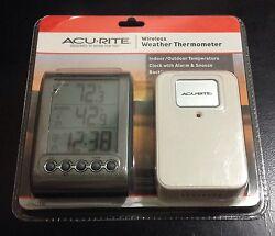 NEW AcuRite Digital Wireless Weather Thermometer Indoor/Outdoor, 00604