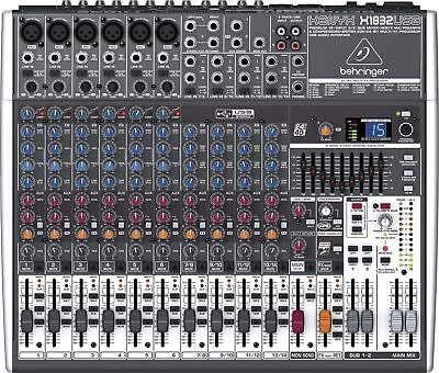 Behringer XENYX X1832USB 18-Channel Live Sound Mixer Board with USB & Effects. Buy it now for 299.99
