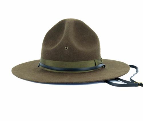 Marine Corps Drill Master Cap Hat Wool Size  L
