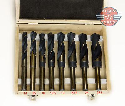 HSS Spiralbohrer Satz Metall Bohrer Set Bohrersatz Kobalt 14-25,5mm(HSS-MET-8FT)