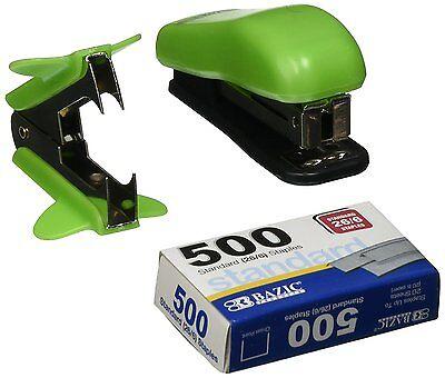 3-in-1 Mini Stapler Staple Remover 500 Standard 266 Staples Office Set