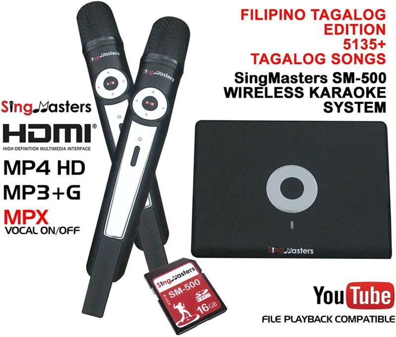 SingMasters Magic Sing FILIPINO Karaoke Player,5135 Philippines Filipino Tagalog