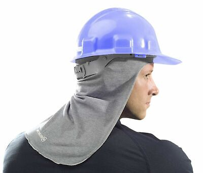 New - Benchmark Fr Hard Hat Liner Sun Protection Shade - Light Gray - Fast Ship