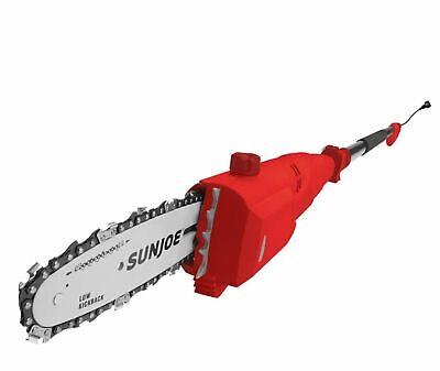 Electric Pole Chain Saw Telescoping Lightweight Red Sun Joe 8 in. 7 Amp Best