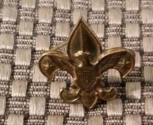 Vintage 30s Pat 1911 Tenderfoot Fleur De Lis EAGLE BOY SCOUT OF AMERICA Gold Pin