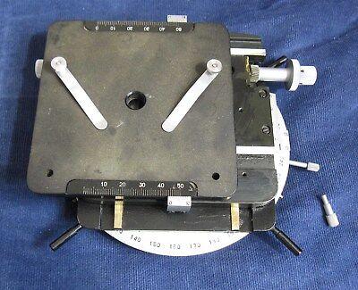 Lomo Stage To Metalloraphic Microscope Mmu-3 Metam R1 Zeiss