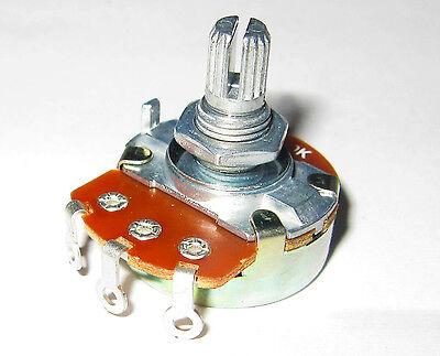 B500k Ohm Pot, Linear Taper, Solder Lugs 1/2w Guitar Pedal Effects Split Shaft Q