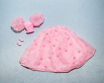 PINK Lace over Solid Pink Genuine BARBIE Dazzling Formal Skirt Set w/ Heels