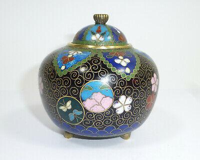 Can Sugar Bowl Cloisonne Enamel Japan Meiji