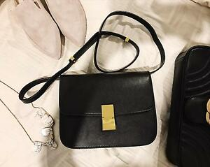 Celine style black leather box bag Mansfield Brisbane South East Preview