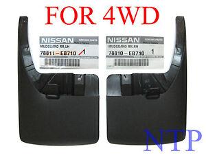 GENUINE-REAR-SET-4x4-4WD-MUD-FLAP-GUARD-NISSAN-FRONTIER-NAVARA-D40-2004-2014
