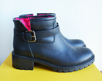 NEW FENDI women's Leather Shearling Ankle Boots Shoes EU36 $850