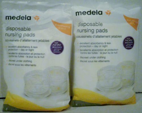 2 Packs of 4 Medela Disposable Nursing Pads