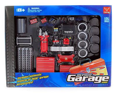 Hobby Gear: Repair Garage Accessories Set 1/24 Scale