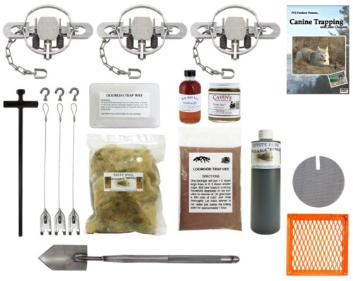 PcsOutdoors Basic Coyote Trapping Starter Kit - Huge Value!