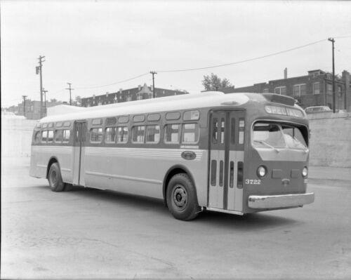 ORIGINAL 1960 ST. LOUIS PUBLIC SERVICE CO. SLPS  #3722 BUS NEGATIVE