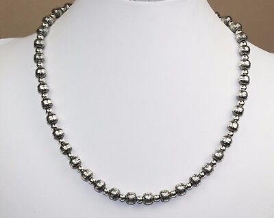 """Carolyn Pollack Relios Sterling Silver Bench Bead 18-22"""" Adjustable Necklace 29G"""
