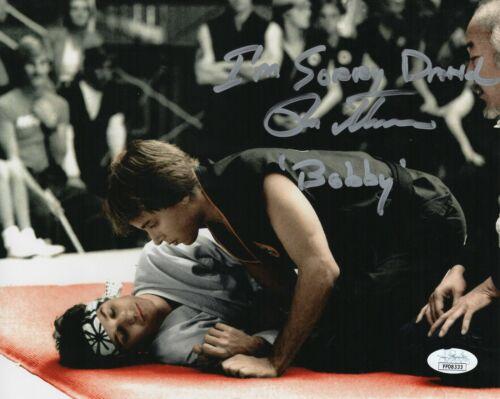 "Ron Thomas Autograph Signed 8x10 Photo - Karate Kid ""Bobby"" (JSA COA)"