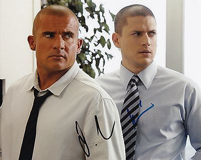 Dominic Purcell Wentworth Miller  W Coa Signed 8X10 Autograph Photo Prison Break