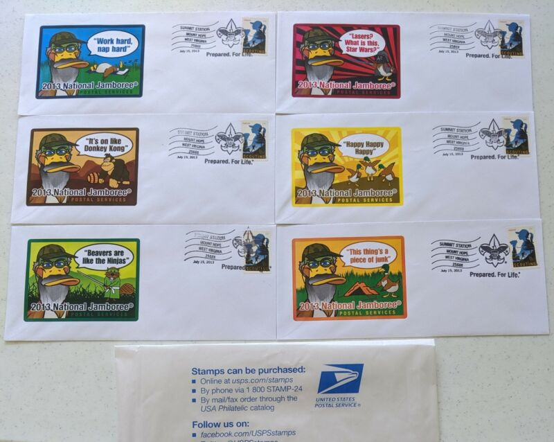 2013 National Boy Scout Jamboree First Day Cover Set BSA Stamps Duck Dynasty