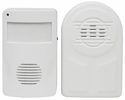 BYRON Funk Bewegungsmelder Batteriebetrieb 110° kompatibel mit DÜWI Interechno