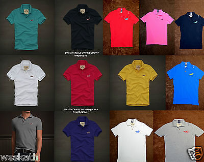NWT HOLLISTER HCO by Abercrombie A F Mens Pique POLO Shirt Collar Size S M L NEW