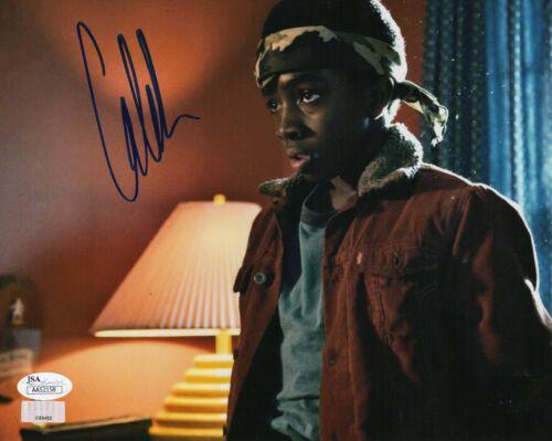"Caleb McLaughlin Autograph Signed 8x10 Photo - Stranger Things ""Lucas"" (JSA COA)"