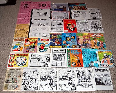 Comic Strip Fanzine Magazine Book 37pc Lot Dick Tracy Mullins Alley Palooka Buck