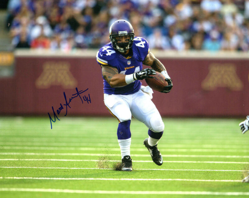 GFA Minnesota Vikings * MATT ASIATA * Signed 8x10 Photo AD1 COA