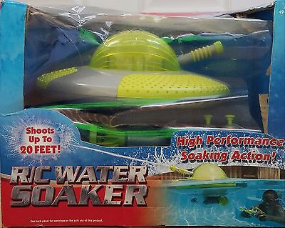 NEW Remote Radio Controlled Control SwimWays RC Water Soaker Pool Toy Shoots 20'