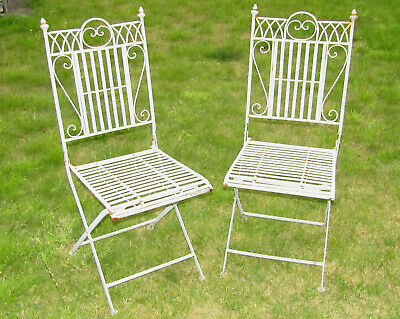 (#538) 2 metal garden folding chairs chair (Pick up only)