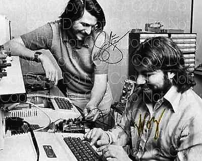 Steve Jobs & Steve Wozniak signed apple 8X10 photo picture poster autograph RP 3