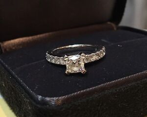 White Gold Diamond Ring. Georges Hall Bankstown Area Preview