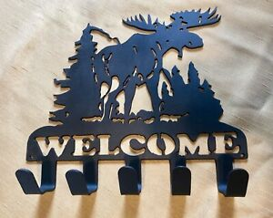 Moose Key Holder Metal Art Decoration