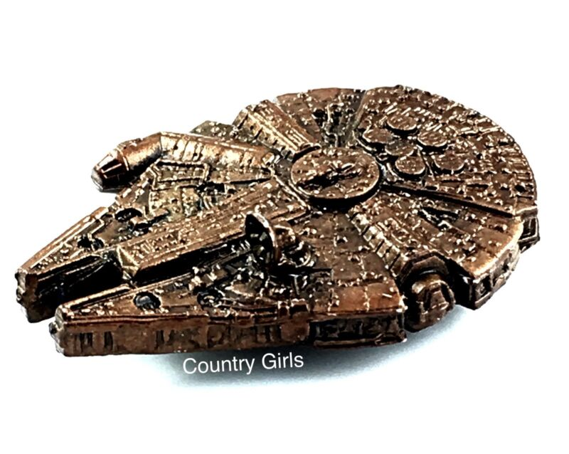 Star Wars Micro Machines Millennium Falcon Space Ship Vintage Galoob Bronze