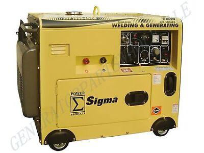 7000 Watt Silent Diesel Welding Generator Electric Start In Stock Miami