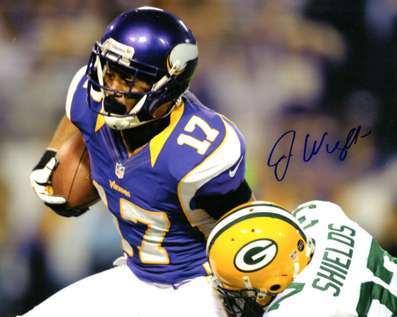 GFA Minnesota Vikings * JARIUS WRIGHT * Signed 8x10 Photo J1 COA
