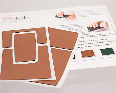 Polaroid SX-70 Land Camera Leatherette Replacement Cover W/ Instructions - Tan