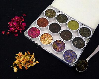 Worldwide Tea Rose - All World Tea Set Starter Gift Kit - Matcha Tea Jasmine Rose Petals Pur-Eh Green
