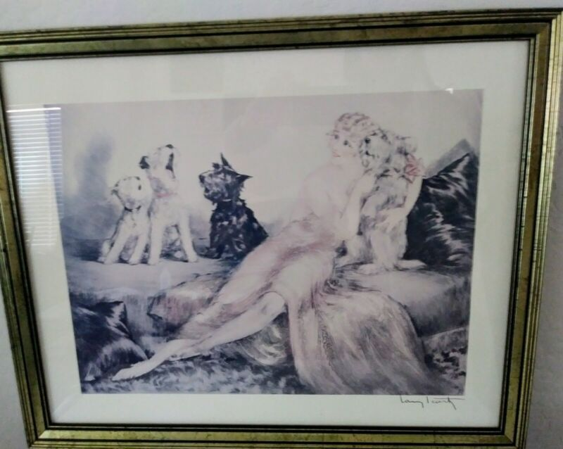 Dogs Singing in Perfect Harmony 8.5x11 Photo Print Louis Icart Funny Animal Art