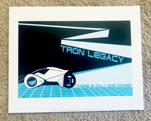 "Tron Legacy Kevin Flynn Light Cycle Print 14""W x 11""H"